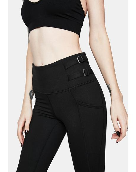Buckle Down High Waist Leggings