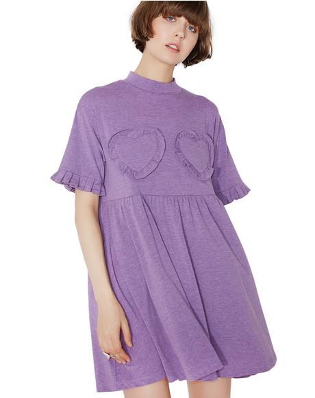 Purple Frilly Hearts Dress