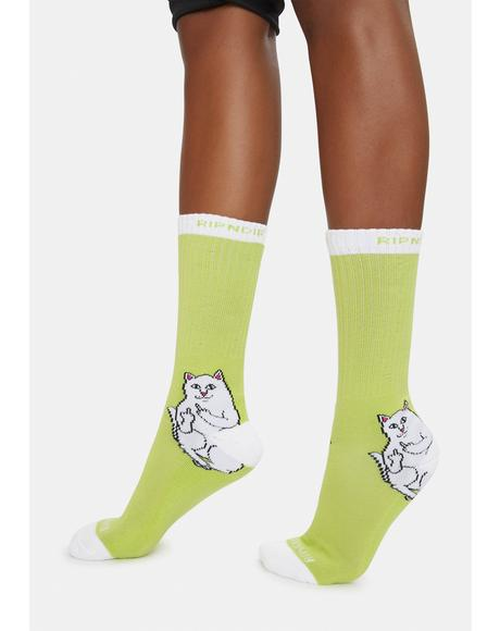 Green Lord Nermal Crew Socks