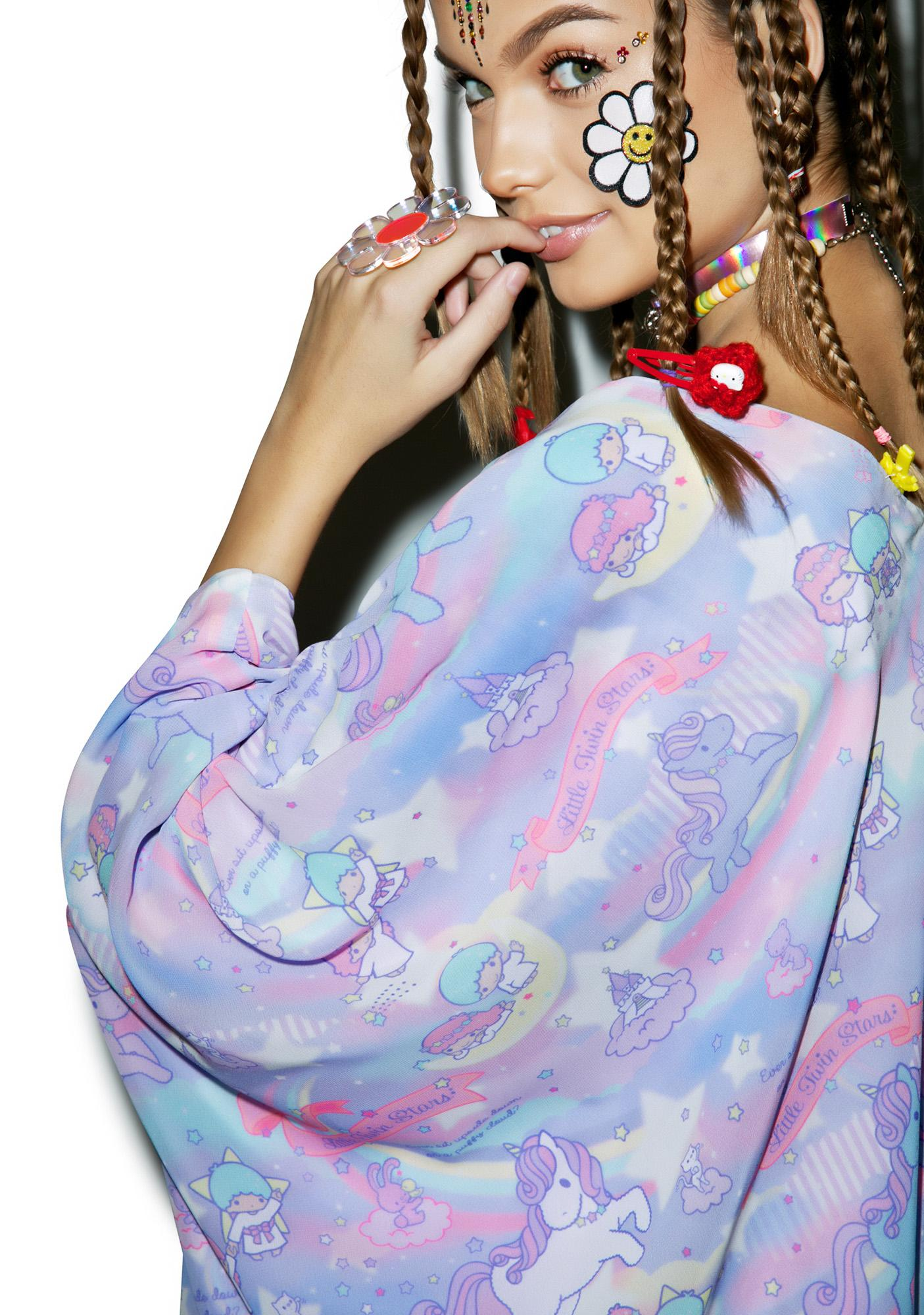 Japan L.A. Little Twin Stars Dreamy Unicorn Kimono