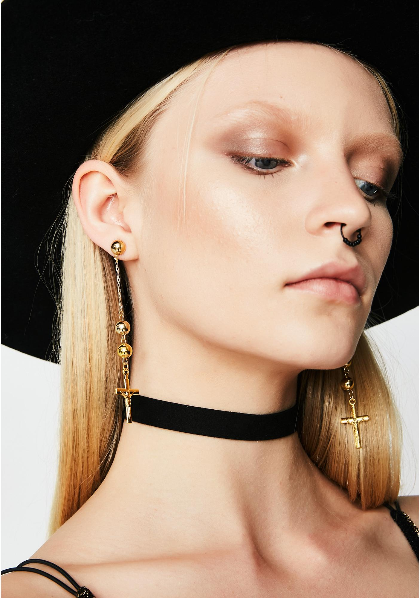 Vanessa Mooney The Faith Cross Earrings