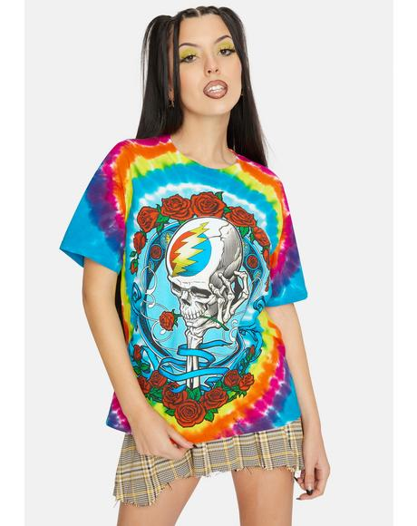 Never Dead Tie Dye Graphic Tee