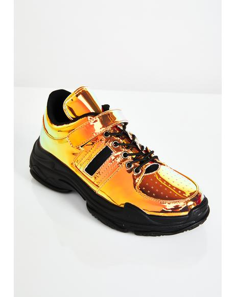 Midnight Moon Walkin Iridescent Sneakers