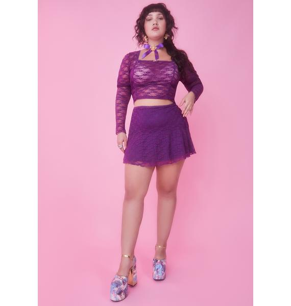Sugar Thrillz Miss This Provincial Life Lace Skirt