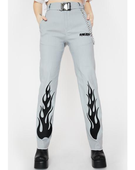 Flame Chain Pants
