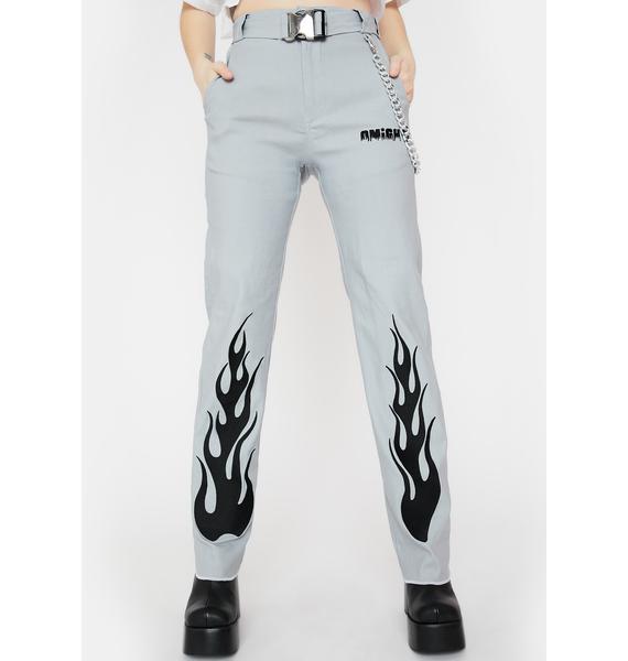 O Mighty Flame Chain Pants