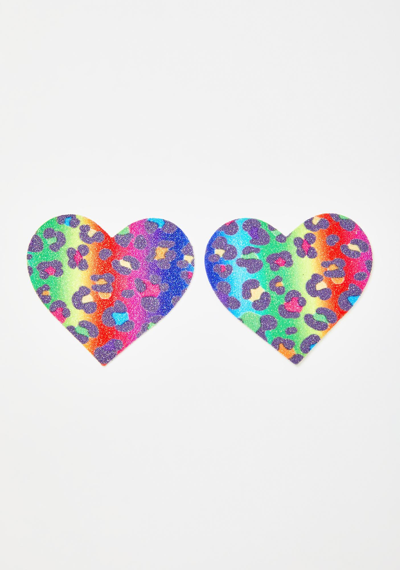 Neva Nude Animal Madness Rainbow Heart Pasties