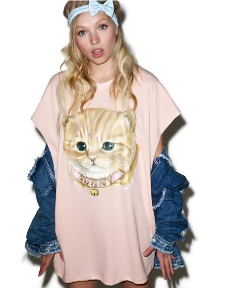 Sunny Cat Tee Dress