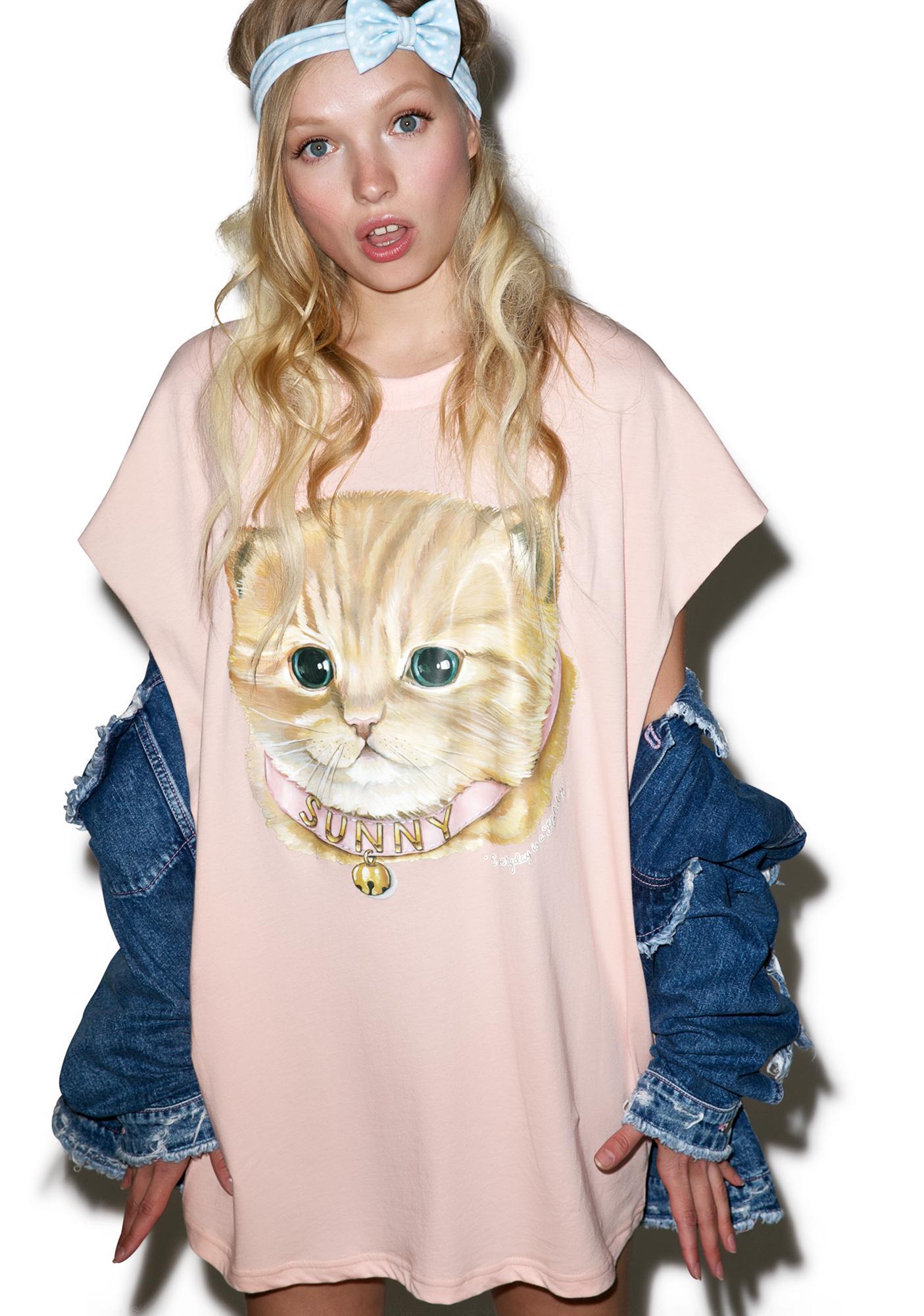 Little Sunny Bite Sunny Cat Tee Dress