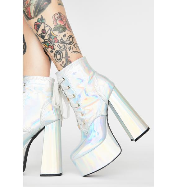 Holographic Gimme A Shot Platform Boots