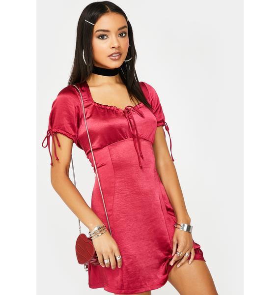 Motel Cherry Guenette Satin Dress