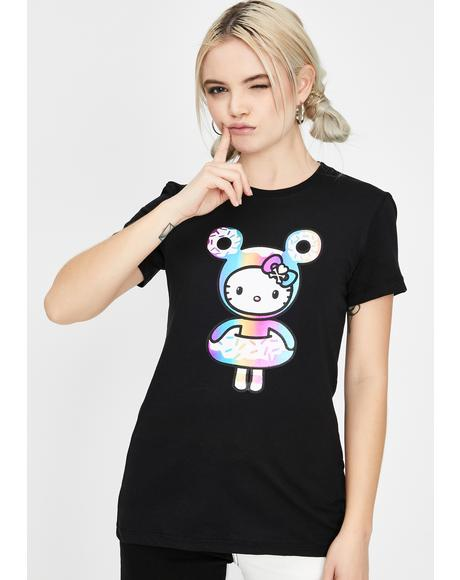 Holographic Kitty Graphic Tee
