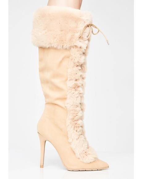 Sand Overnight Sensation Furry Boots