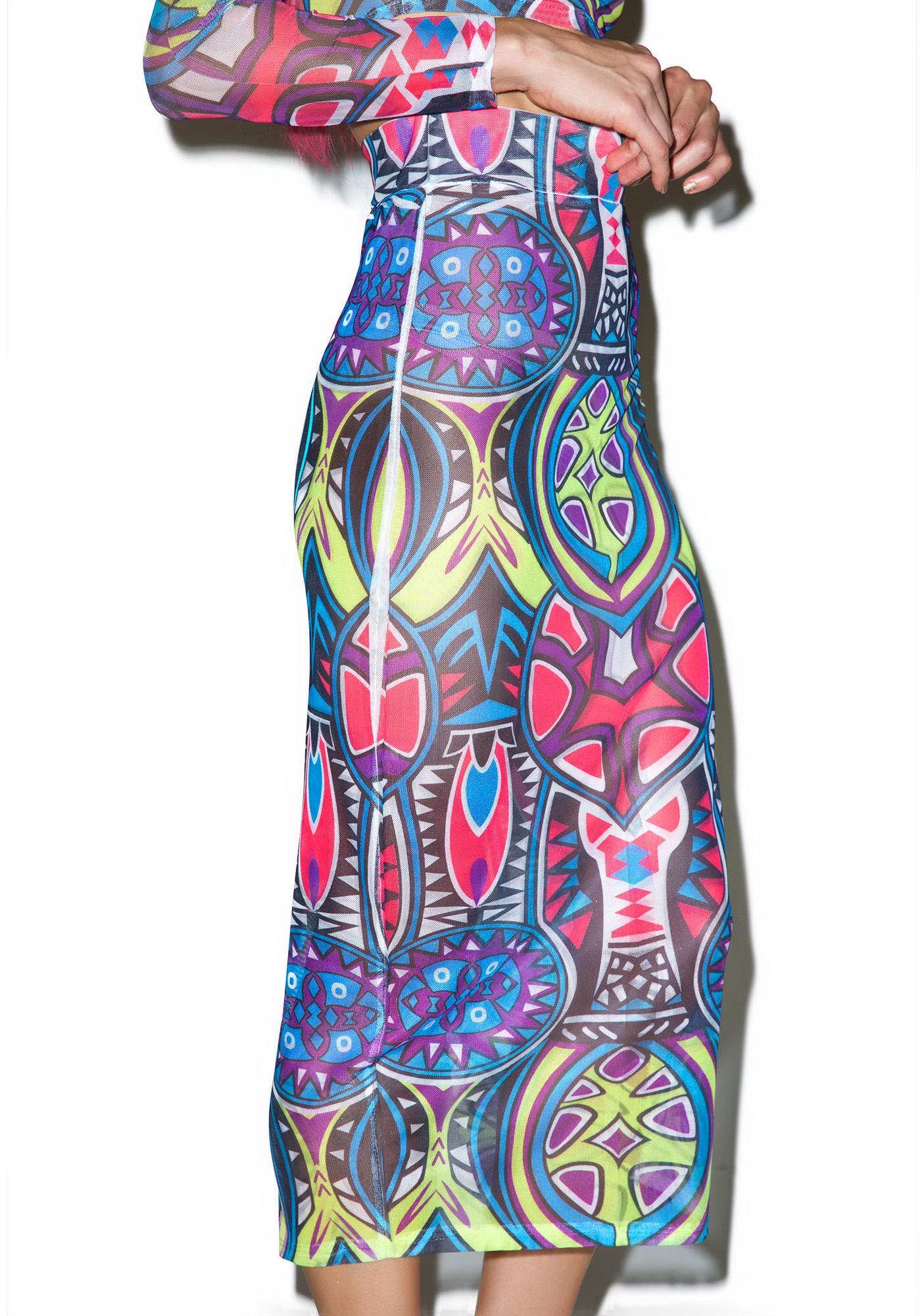 Trippy Opticz Skirt