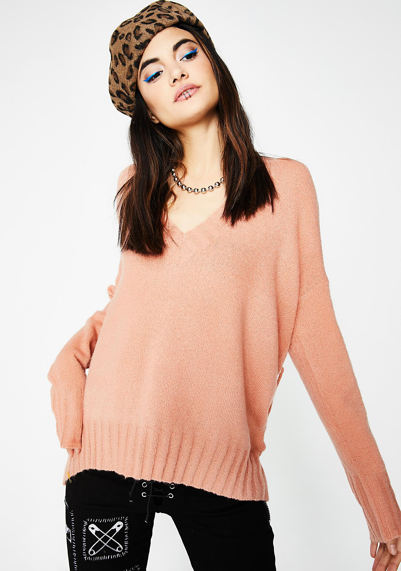 Keep It Comfy Lace-Up Sweater