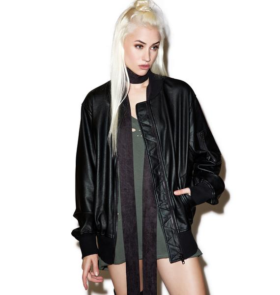 Widow Restless Ruins Coated Bomber Jacket