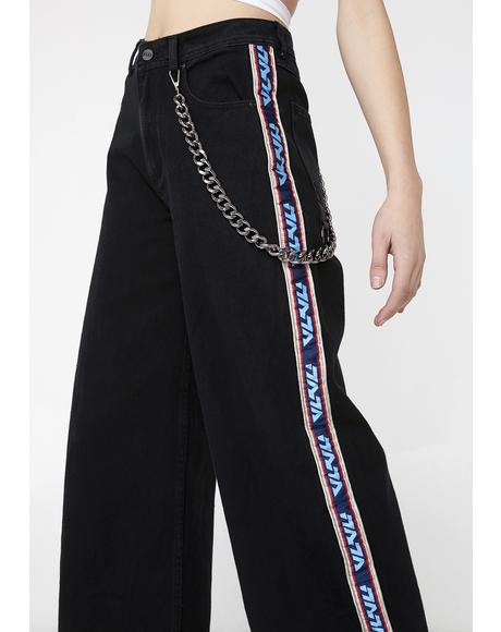 Chain Oversized Trousers