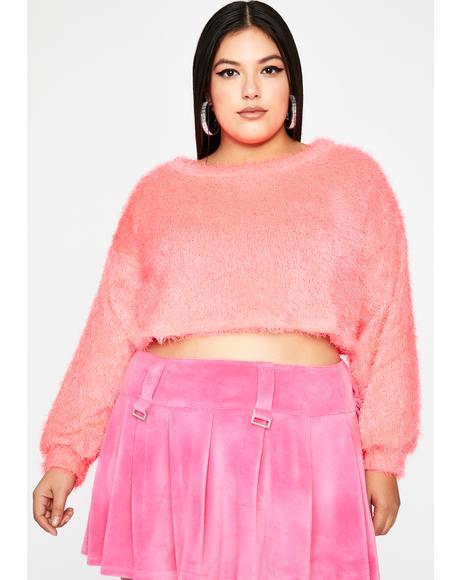 Total Daring Diva Crop Sweater
