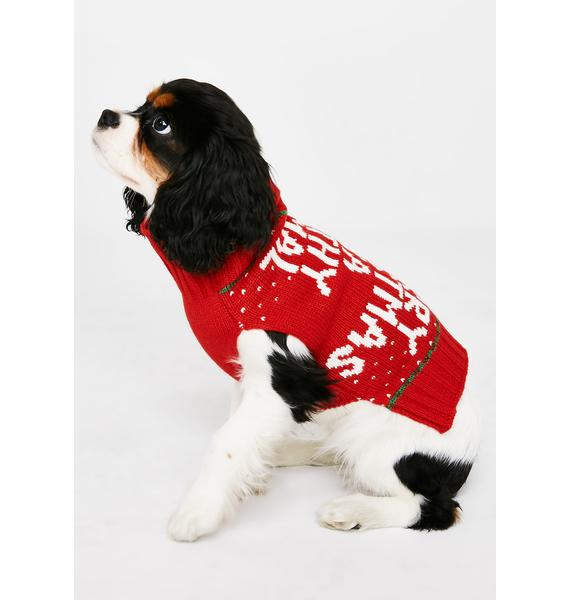Filthy Animal Dog Sweater