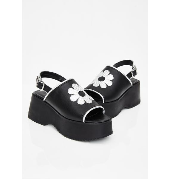 dELiA*s by Dolls Kill Funky Beat Platform Sandals