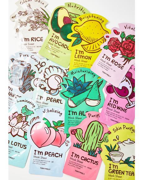 Cactus I'm Real Sheet Mask
