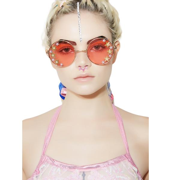 ReblKitty Disco Doll Round Sunglasses
