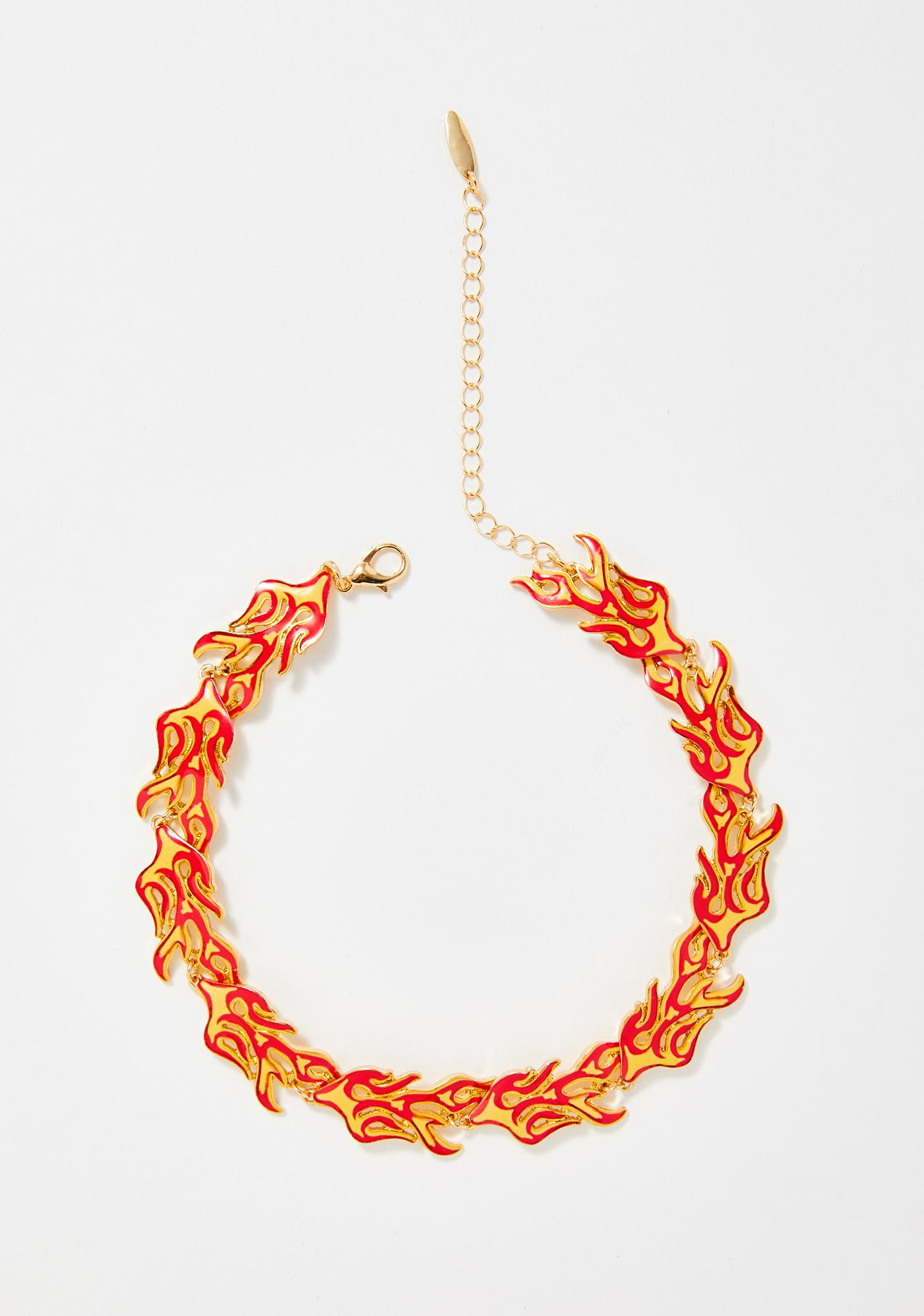 Out In A Blaze Flame Choker