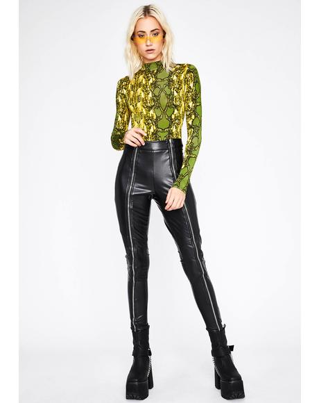 Cash Divine Demon Snakeskin Bodysuit