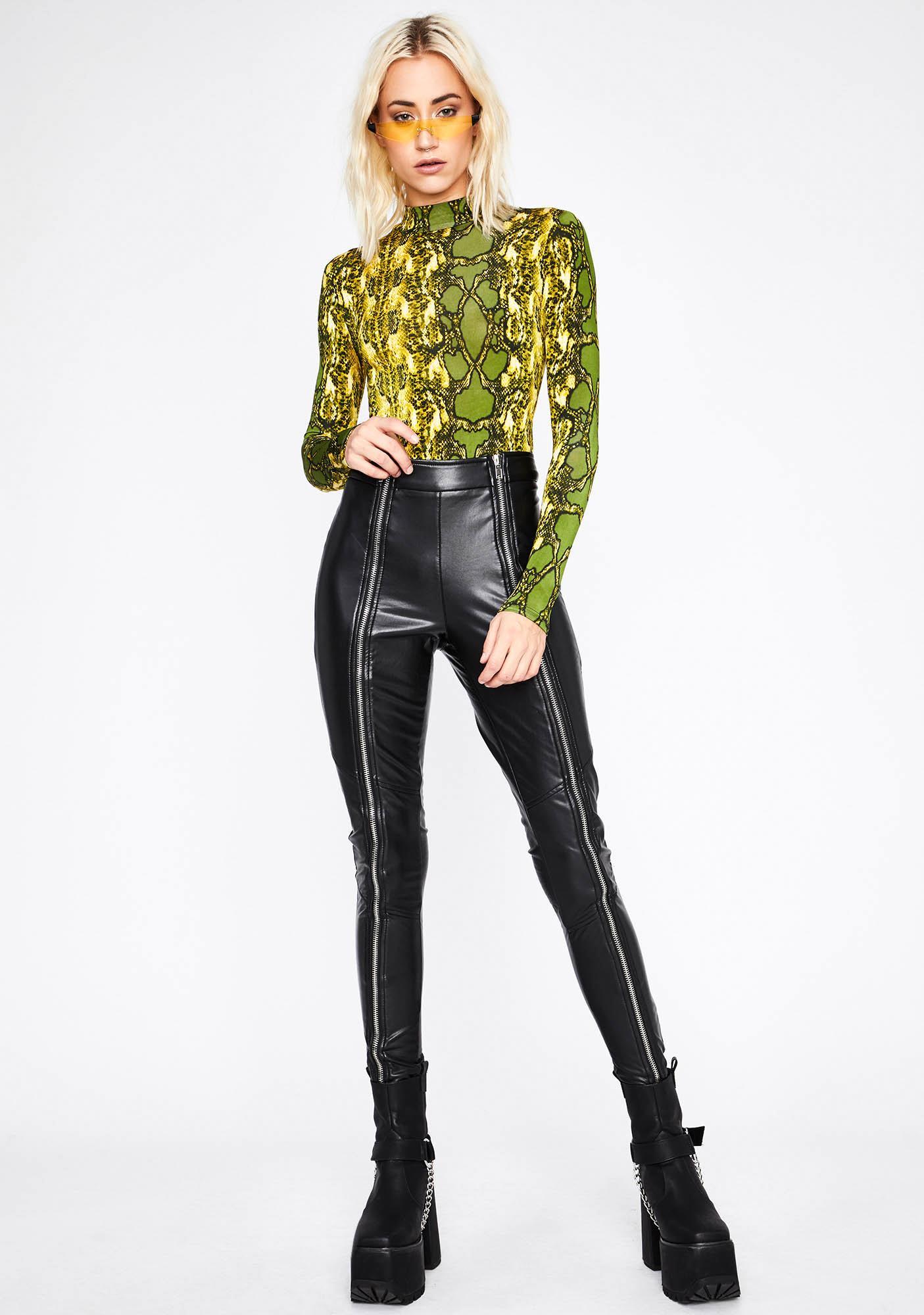 Cash Divine Demon Snakeskin Bodysuit