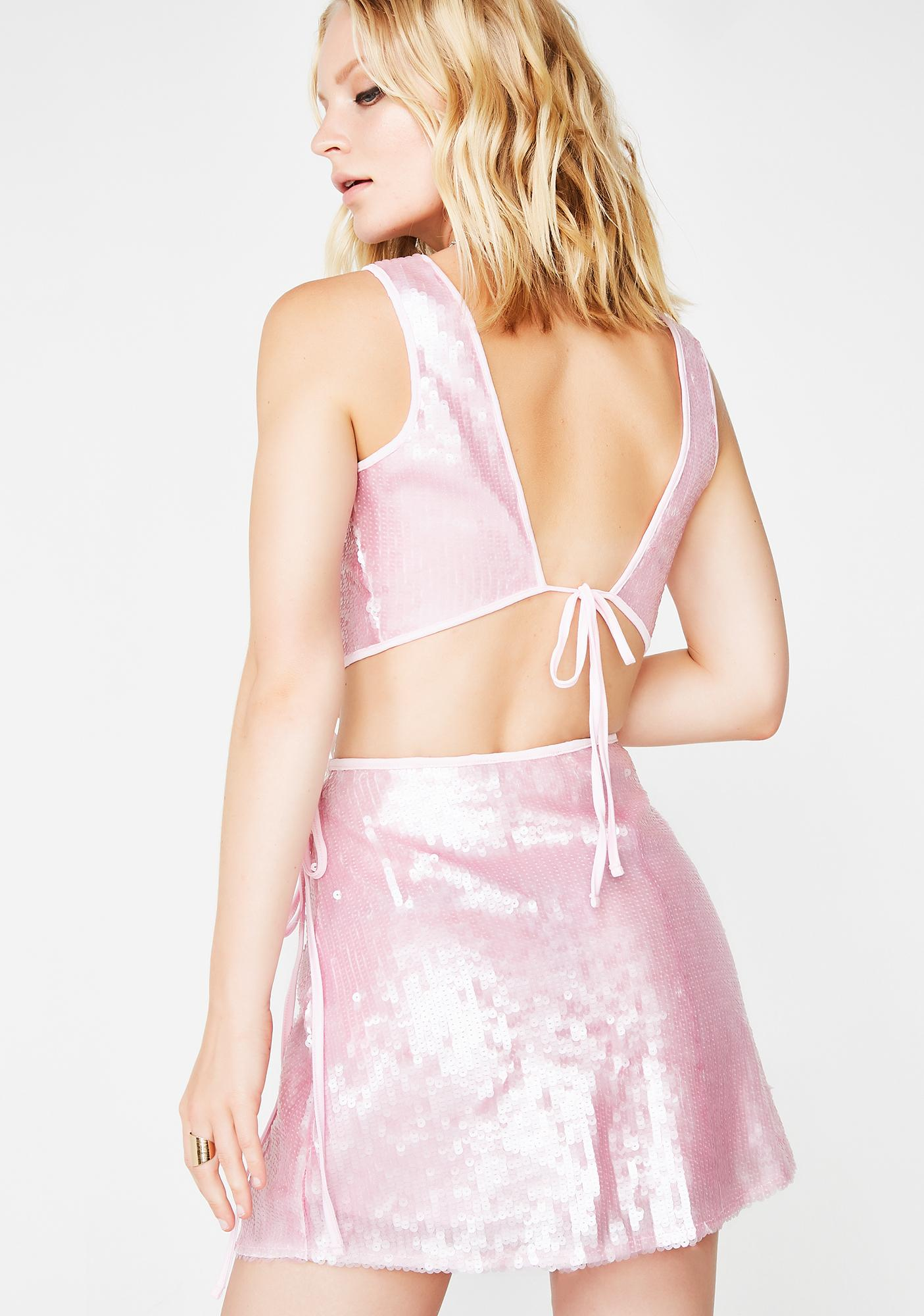 Motel Candy Wrap Skirt