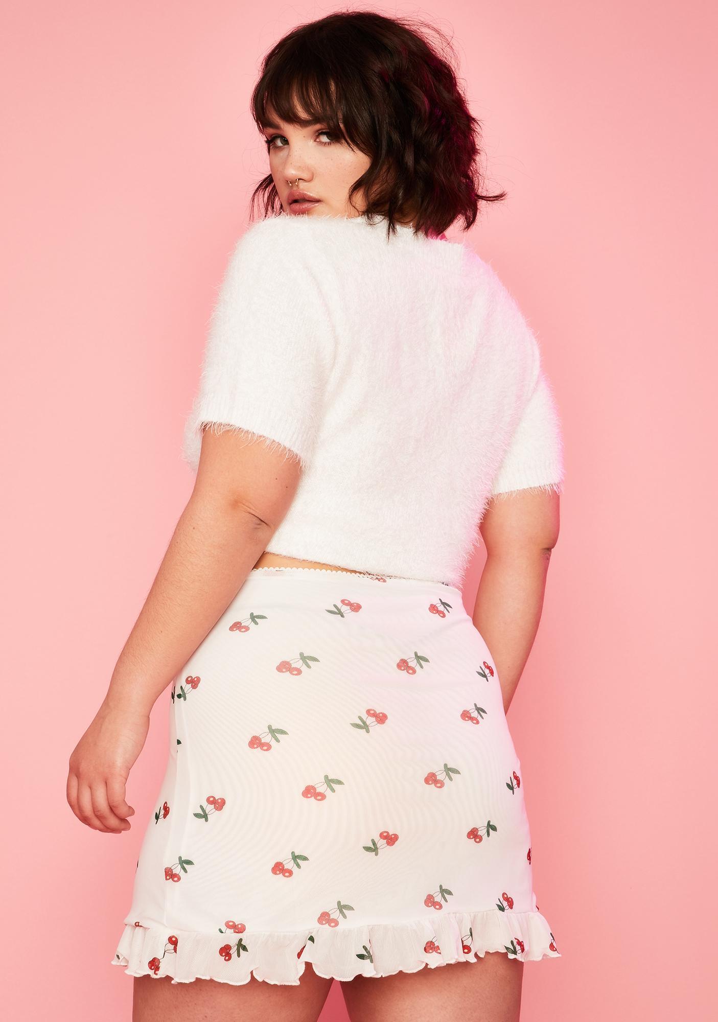 Sugar Thrillz Oui Mon Cherry Mini Skirt