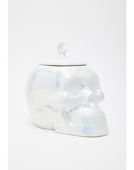 Aura Skull Cookie Jar