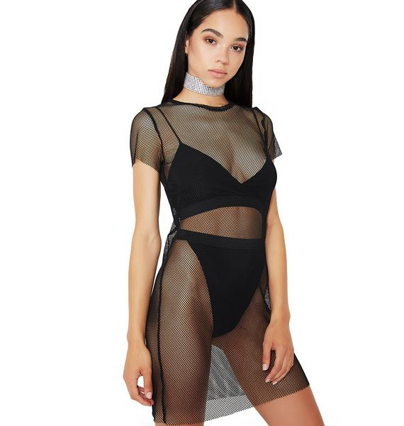 Start Somethin' Mesh T-Shirt Dress