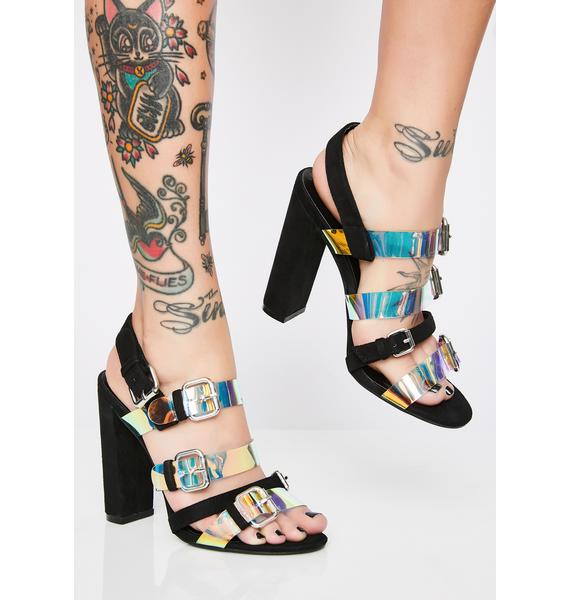 Mystic Shine Holographic Heels