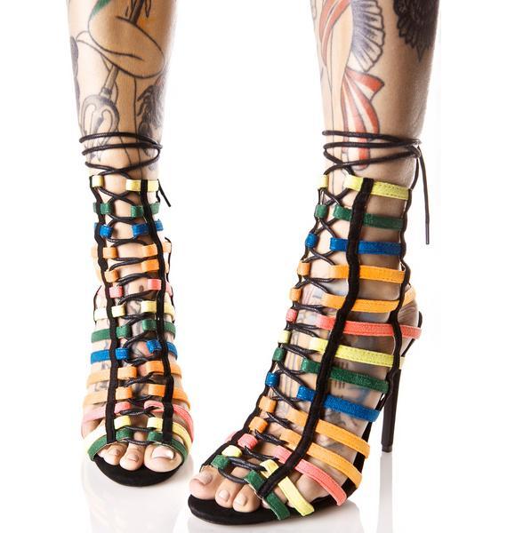 Brand New Feeling Caged Heels
