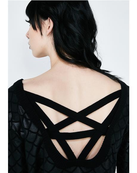 Siren Mermaid Knit Sweater