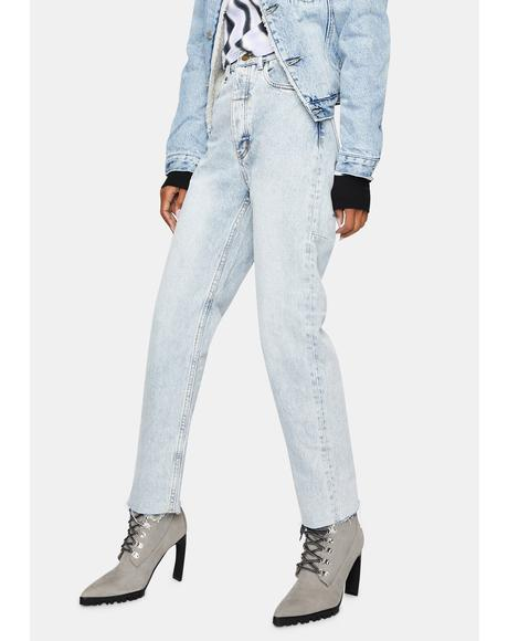 Time Worn Blue Paige Denim Jeans