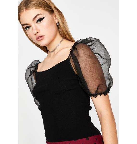 Ur A Gem Organza Top