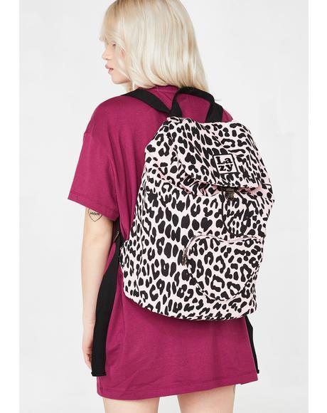 Pink Leopard Rucksack