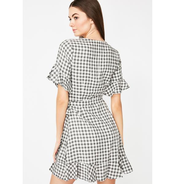 Picnic Of Luv Gingham Wrap Dress
