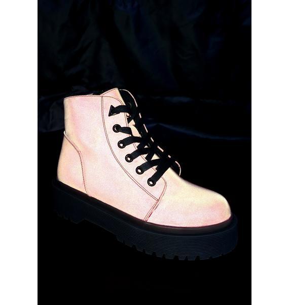 Y.R.U. Slayr Pink Reflective Boots