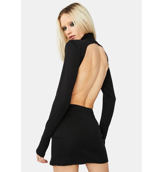 Sneaky One Open Back Bodycon Mini Dress