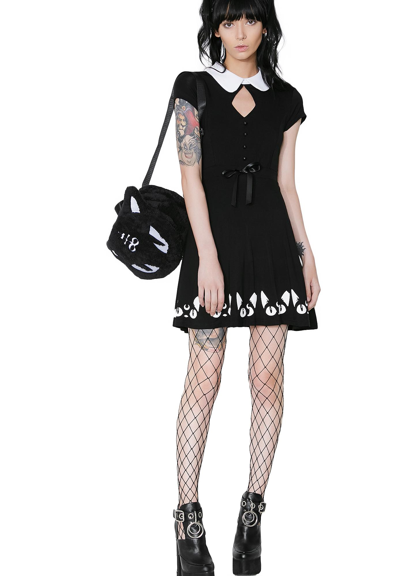 Killstar Keiko Kitty Skater Dress