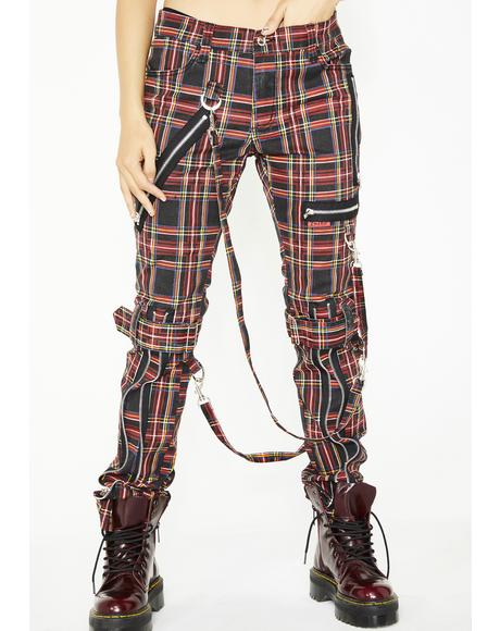 Lit Plaid Bondage Pants