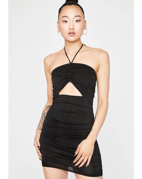Out Tonight Ruched Dress