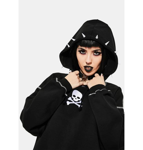 Current Mood Forsaken Soul Spiked Hoodie