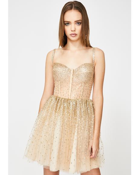 Cascading Shimmer Dress
