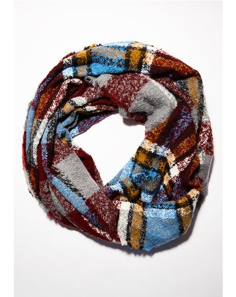 Bookworm Plaid Scarf