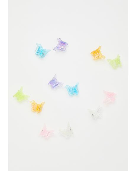 Jello Butterfly Clips