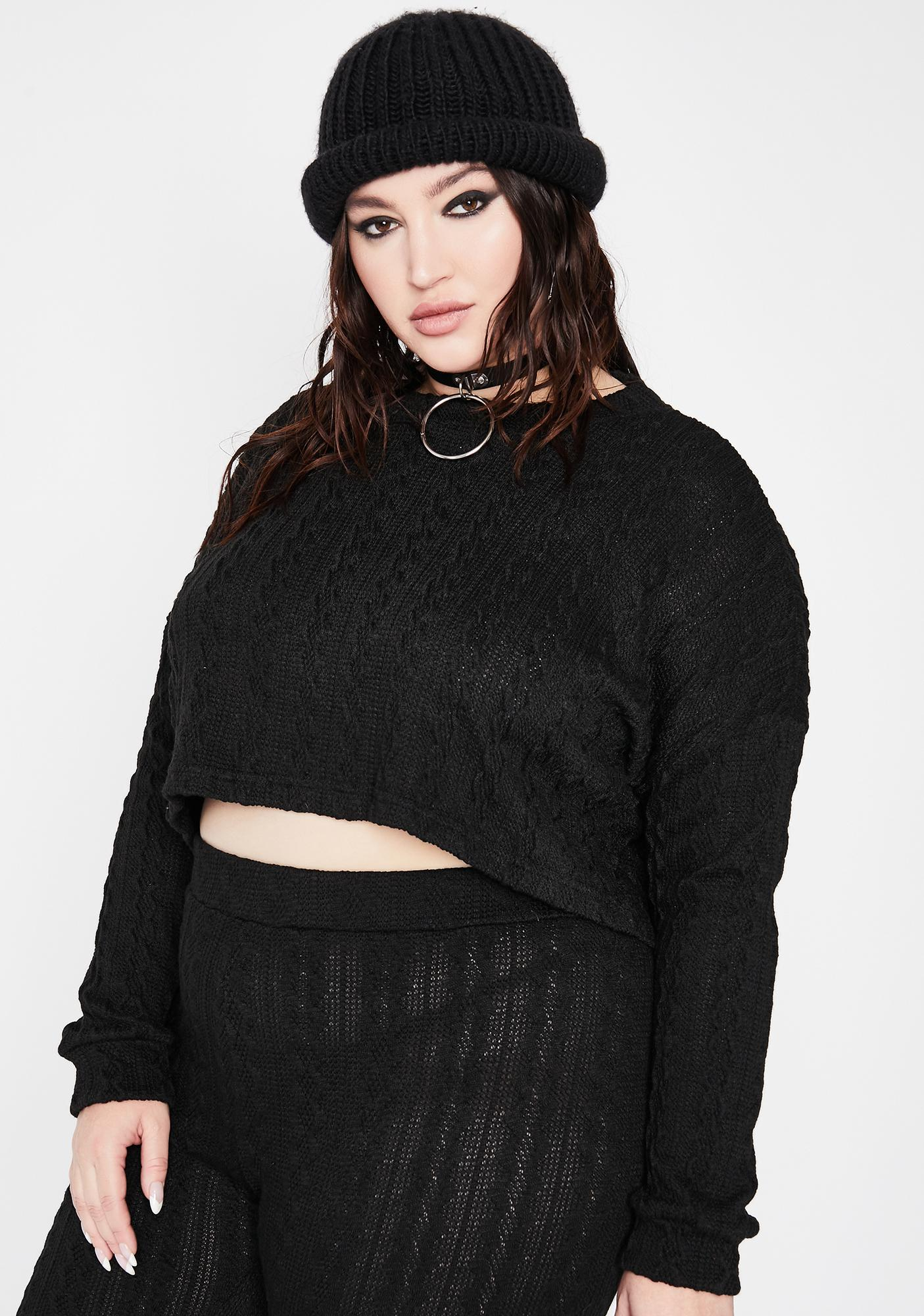 Legit Late Night Missed Calls Knit Sweater